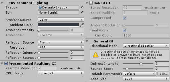 Realtime GI Settings